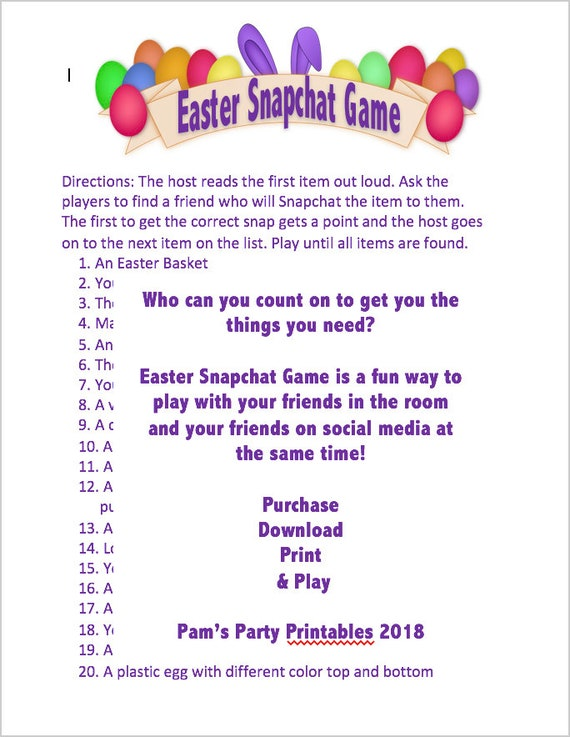 photograph about Classroom Scavenger Hunt Printable referred to as Easter/Spring Snapchat Scavenger Hunt, Printable, Image