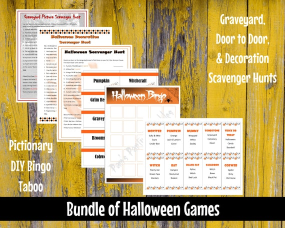 photo about Halloween Printable Games named Halloween Printable Recreation Deal - Large amount of 6 Halloween Game titles