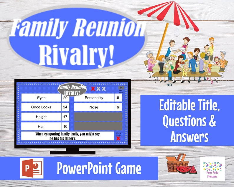 Virtual Game Family Reunion Rivalry Battle Game Editable image 0
