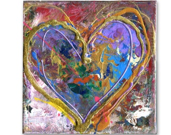 449 heart painting heart painting on canvas small acrylic etsy