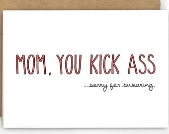 Funny Mothers Day Card ~ Card for Mom ~ Sorry For Swearing by Cypress Card Co. ~ SKU 146