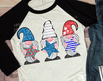e9170ccf1 Gnome 4th of July Shirt- Adult 4th of July shirt- Kids Patriotic shirt-  Woman's Gnome shirt- Summer Gnome shirt- Easter crossth of July tee