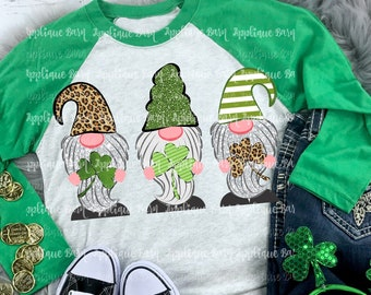 752908586 Gnome St. Patrick's Day Shirt- Adult St. Patrick's Day shirt- Woman's Gnome  shirt- Leopard Gnome shirt- Mom shirt- Woman's Gnome shirt