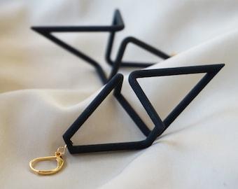 Geometric Infinity | 3D printed earrings - black