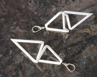 Geometric Infinity | 3D printed earrings - white