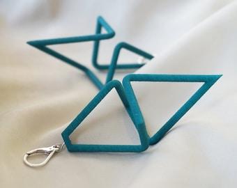 Geometric Infinity | 3D printed earrings - teal green