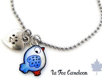 Kids bracelet little Blue Bird