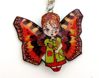 Pendant artist Butterfly Fairy