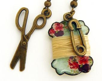 seamstress's earrings