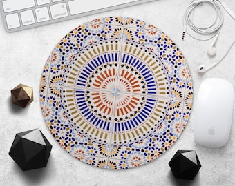 MousePad Moroccan Mouse Pad Teacher Gift Girl Mouse Mat Marble Mouse Pad Geometric MousePad Style MouseMat Desk Accessories Office Supplies