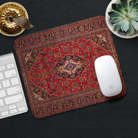 Mouse Pad Rug Mousepad Red Mouse Mat Persian Carpet Mousepad Etsy