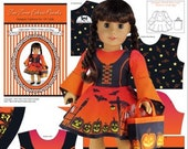 18 inch Doll Clothes Kit To Sew Witch Dress and Bag - Fits American Girl Doll - Fabric Panel Notions Illustrated Sewing Guide Booklet 18 quot