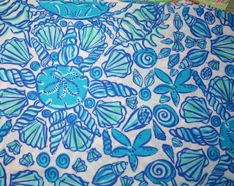 Lilly Pulitzer ~ Blue Sailors Valentine~ 100%  cotton fabric