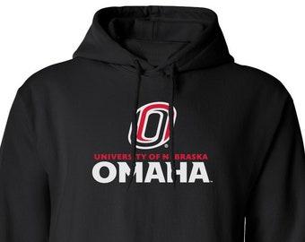Nebraska Omaha Youth Red Fleece Hoodie Baseball