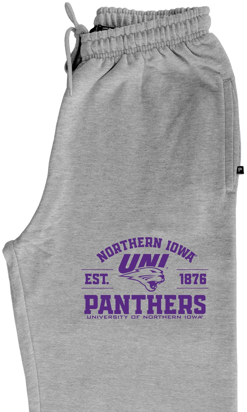 UNI Panthers Sweatpants Unisex UNI Pants UNI Sweatpants Northern Iowa Fleece Pants Est 1876 Northern Iowa Panthers Sweatpants