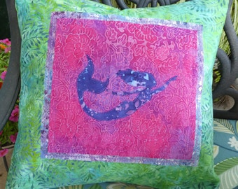 Pillow Mermaid Pink, Purple and Green
