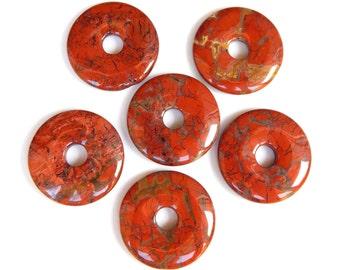 Brecciated Jasper, Donut, 35mm, Focal Bead, Undrilled, Jasper Pendant, Gemstone Beads, Healing Beads, Destash