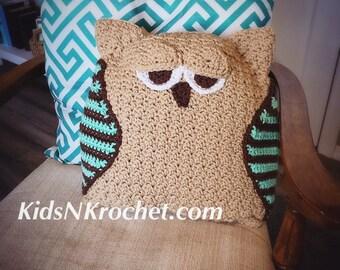 Owl throw pillow, home decor