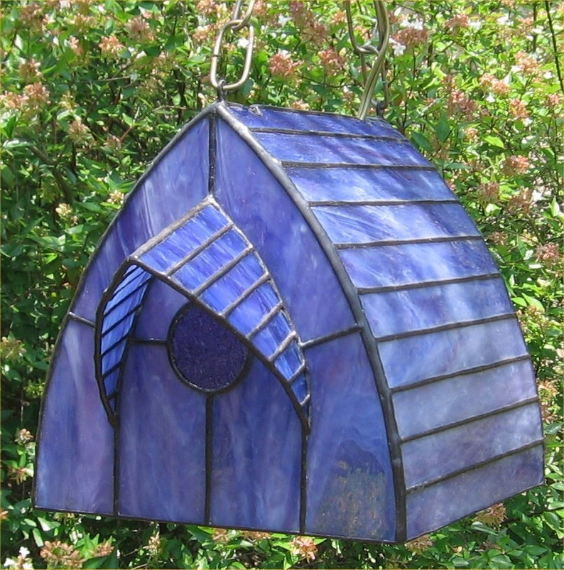 Stained Glass Lamp Chickadee Birdhouse Swag PDF Instructions and Pattern