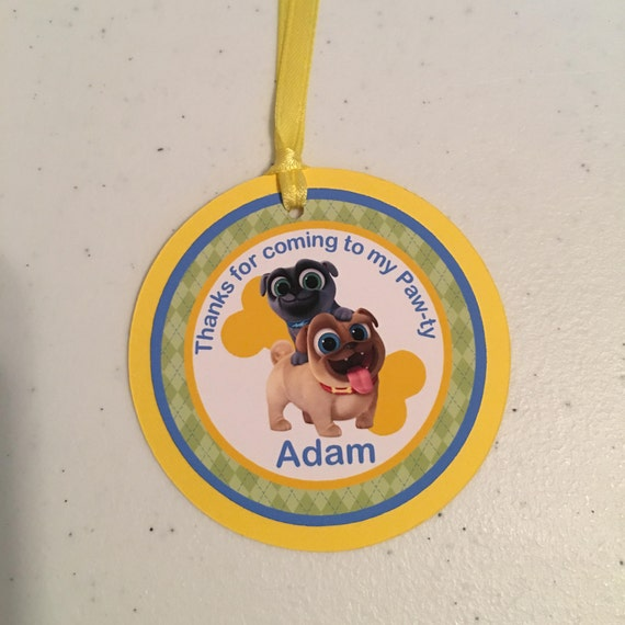 Puppy Dog Pals Favor Tags 12 Puppy Dog Pals Gift Tags Etsy