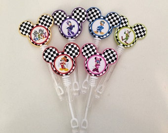 Mickey and the Roadster Racer Bubble Wands, Bubble wands, Mickey Roadster Party favors inspired, Mickey Roadster decorations,.