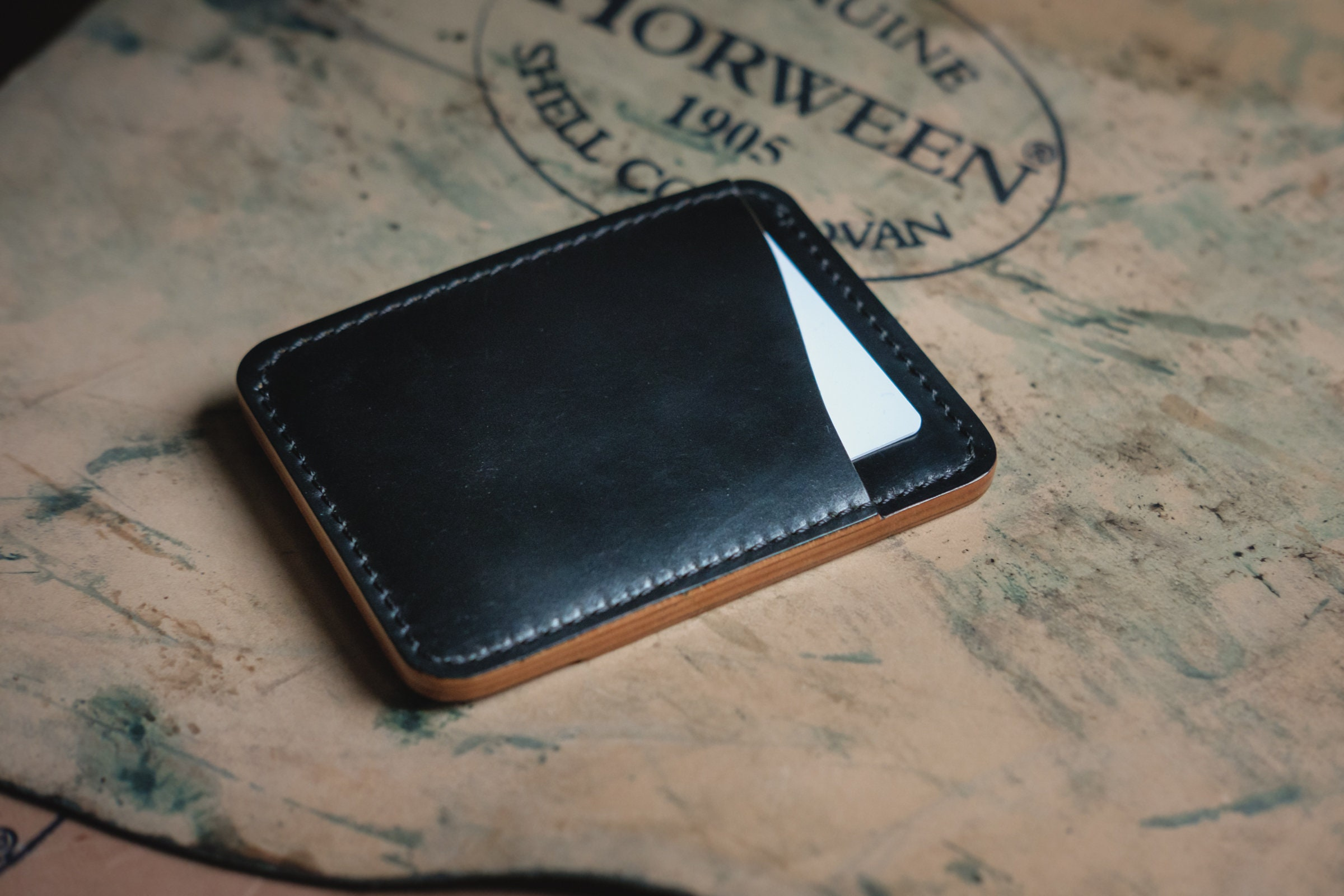 quality design 51b10 c25dd Shell Cordovan Wallet - Card Holder - Minimalist Wallet - Horween Wallet -  Leather Goods - Leather Wallet