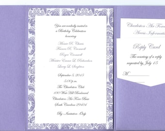 Simply Chic Pocket Invites