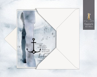 "Mourning / condolence card > grief & consolation < ""Faith - Hope - Love"" 10.5 x 14.8 cm incl. envelope"