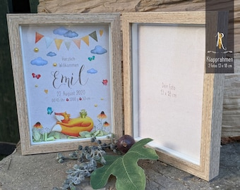 """Photo/folding frame > The birth > """"Little Fox"""" pictures / photo gift"""