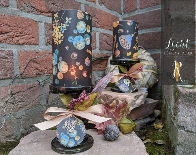 "Candlestick + Windlight > Autumn Edition - ""Autumn Lights"" - different Sizes"