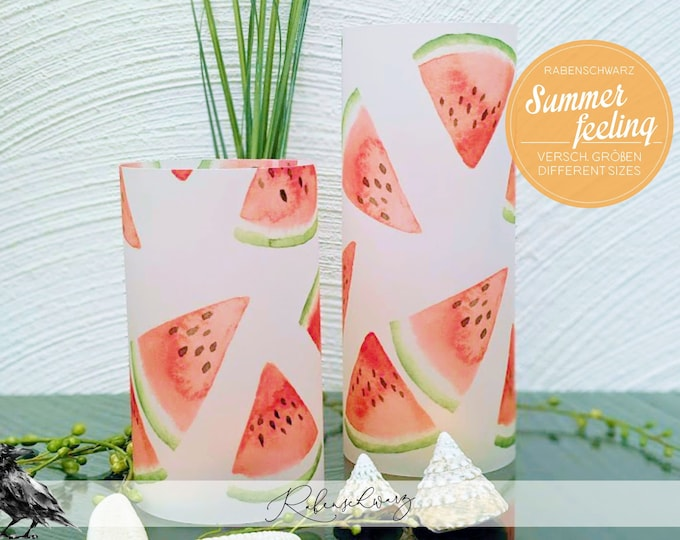 "Light cover / windlight > SUMMER FEELING - ""Watermelon"" - different Sizes"