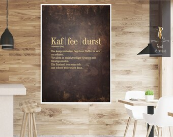 """Print / print > coffee lovers < """"coffee thirst"""" - different sizes"""
