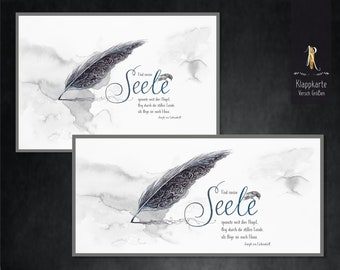 """Mourning / condulence card > mourning & consolation < """"soul flight"""" - different. Sizes incl. envelope"""