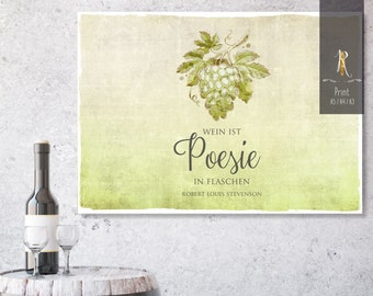 """Print > wine rush < """"Wine is poetry in bottles"""" - versch. sizes"""