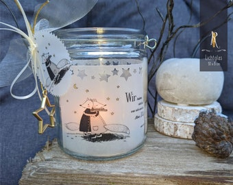 """Light glass / windlight > For favorite people < """"We may not have everything..."""" - Hanging lantern"""