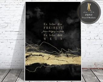 "Print > Wine Rush < ""... long live the wine"" J. W. von Goethe - versch. sizes"