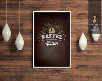 "Print / print > coffee lovers < ""coffee gossip"" - different sizes"