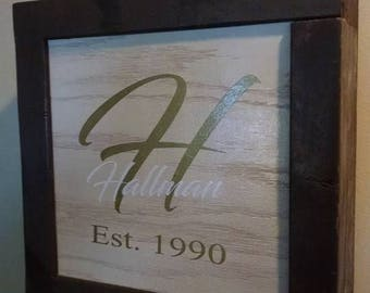 Personalized Hideaway Frame