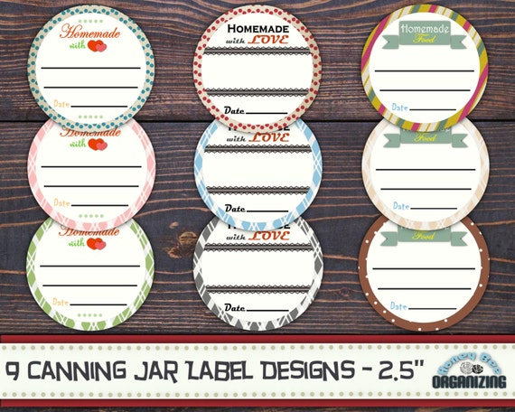 9 Canning Jar Labels Printable Mason Lid