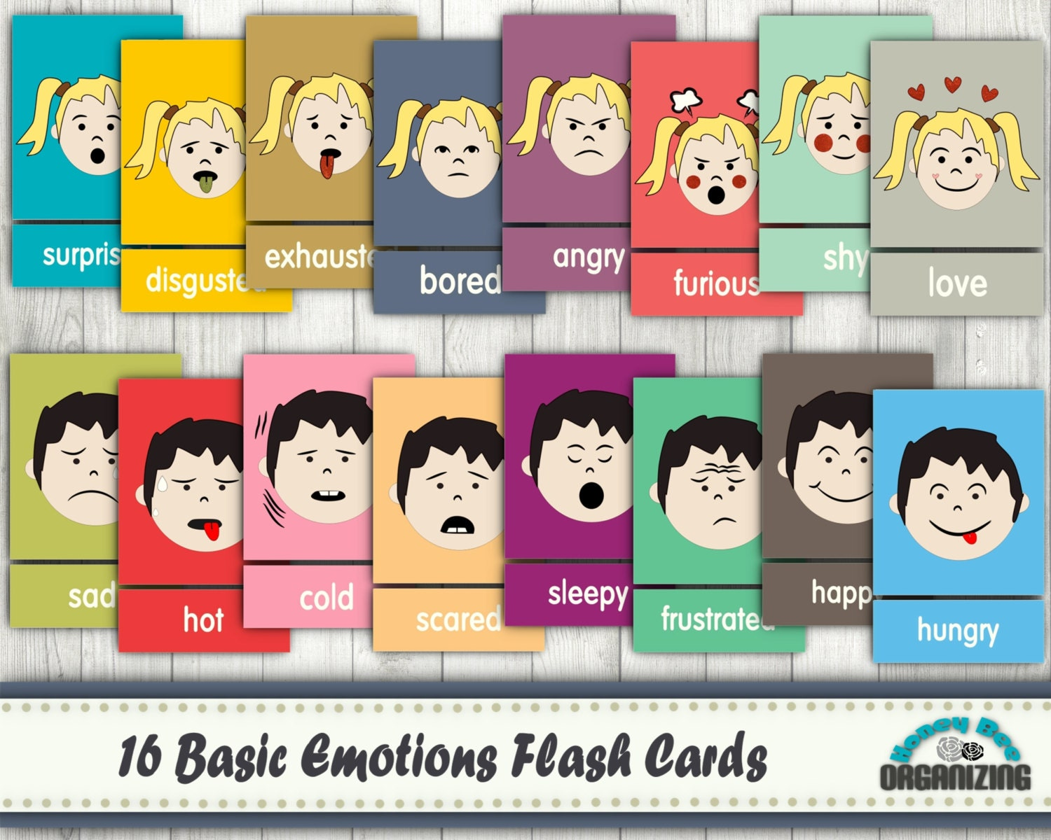 image regarding Feelings Cards Printable called Inner thoughts Flash Playing cards - Simple Feelings Playing cards - Blank Playing cards - Encounter Term Playing cards - Emotions Term Flash Playing cards