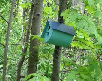 Half round birdhouse
