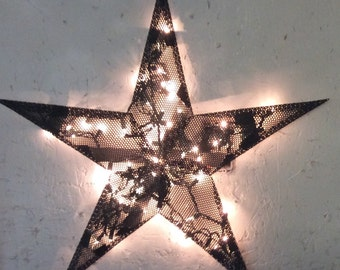 24 inch perforated metal barn star