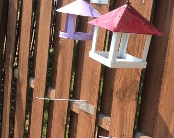 Small hanging bird feeders