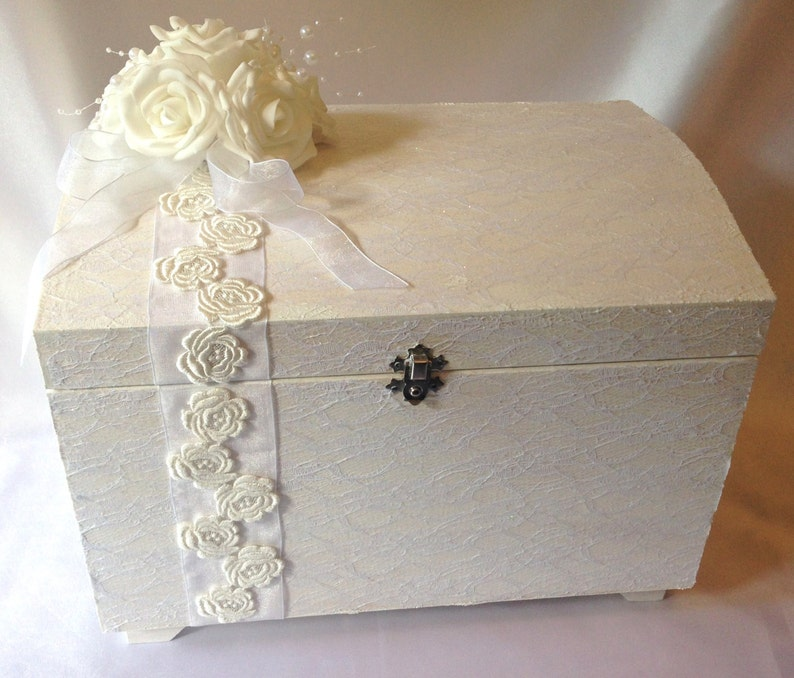 Beautiful Wedding Keepsake Box Uk Made From Quality Wood Lace With Free Gift