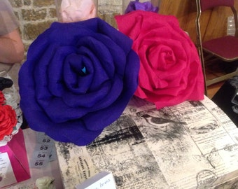 Beautiful large paper flowers for weddings and parties