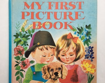 Collectible My First Picture Book by Leonard Weisgard ~ Early Learning Picture Book ~ Mid Century Illustrations ~ Senses, Preschool Book
