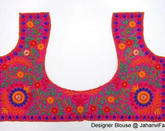 Readymade Black Embroidery Saree Blouse Embellished Sari Etsy