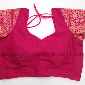 Readymade Wedding Banglori Silk Solid Pattern Choli Stitched Saree Blouse Party Wear Off Shoulder Tunic for Sari Women Crop Top 1pcs