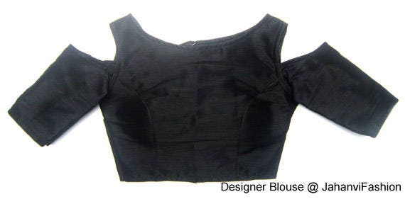 Readymade Cold Shoulder Boat Neck Saree Blouse Available In Etsy