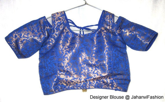 Readymade Cold Shoulder Saree Blouse With Chanderi Regular Etsy